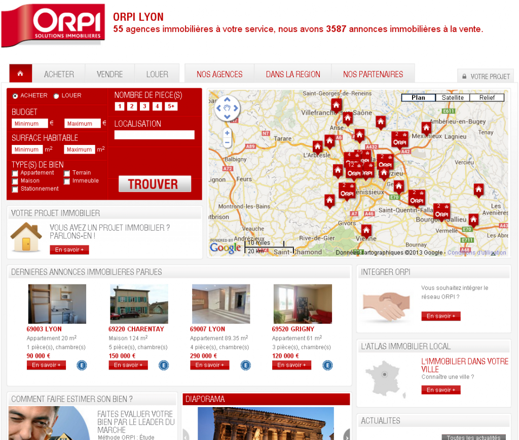 Agence immobiliere orpi agence immobiliere lyon for Achat agence immobiliere