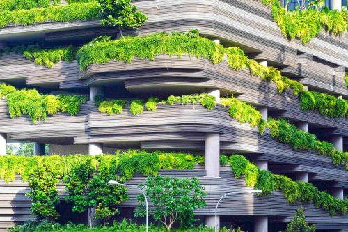 Un parking végétalisé en Chine